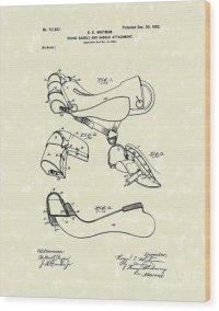 Saddle 1902 Patent Art Drawing by Prior Art Design