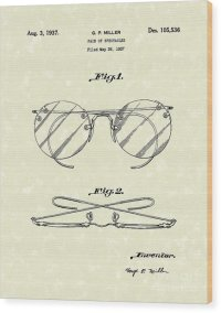 Spectacles 1937 Patent Art Drawing by Prior Art Design