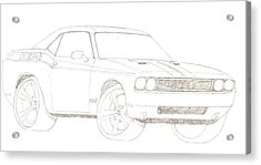 2009 Dodge Challenger Drawing by David Fields
