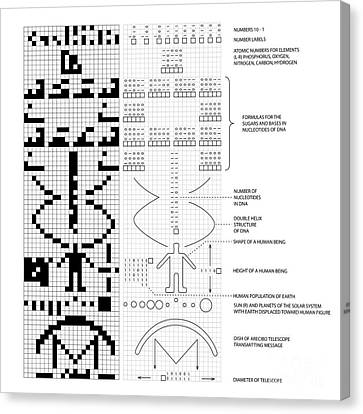 Arecibo Message And Decoded Key Photograph by Science