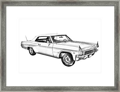 1965 Chevy Impala 327 Convertible Illuistration Photograph