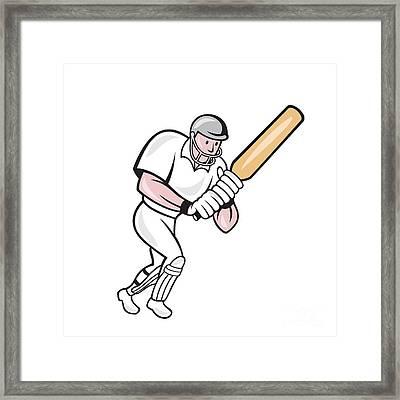 Cricket Player Batsman Batting Cartoon Digital Art by
