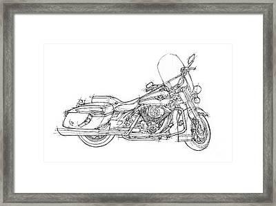 Harley Davidson Road King Drawing by Drawspots Illustrations