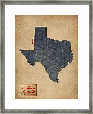 Framed Texas Map : framed, texas, Texas, Framed, Prints, America