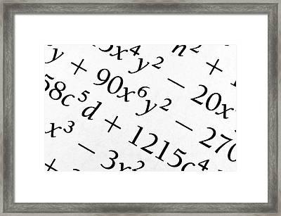 Algebra Formulas Close Up. Photograph by Fernando Barozza