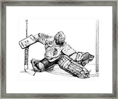 Ed Belfour Drawing by Steve Benton