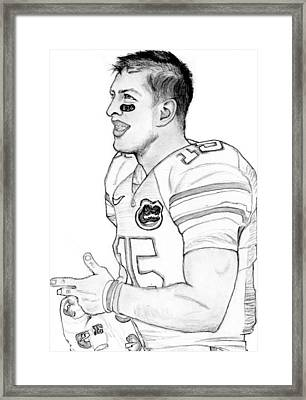 Tim Tebow Drawing by Kiyana Smith