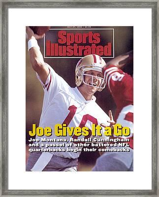 sports illustrated joe montana framed