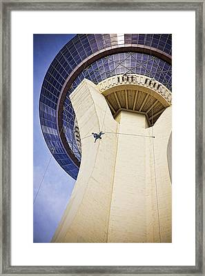 Stratosphere Jumper, Las Vegas Framed Print by Tatiana Travelways