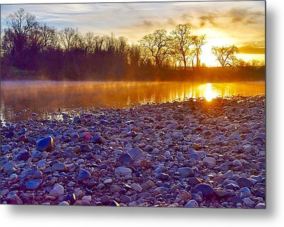 The Golden Hour   Metal Print by Maria Jansson