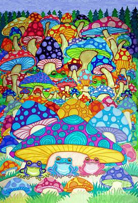 Trippy Mushroom Drawing : trippy, mushroom, drawing, Magic, Mushroom, Drawings, America