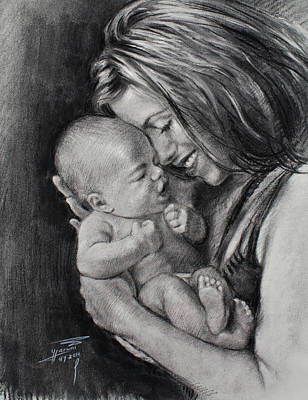 Mother And Baby Images Drawing : mother, images, drawing, Mother, Drawings, America