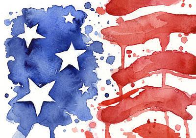 american flag art fine