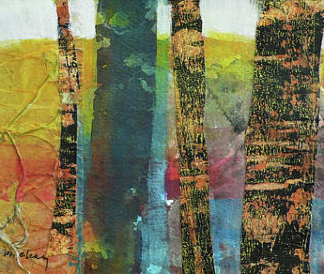 Abstract Nature Painting Trees By Melody Cleary