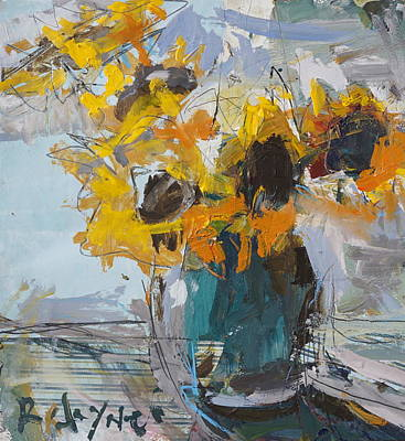 abstract sunflower painting by