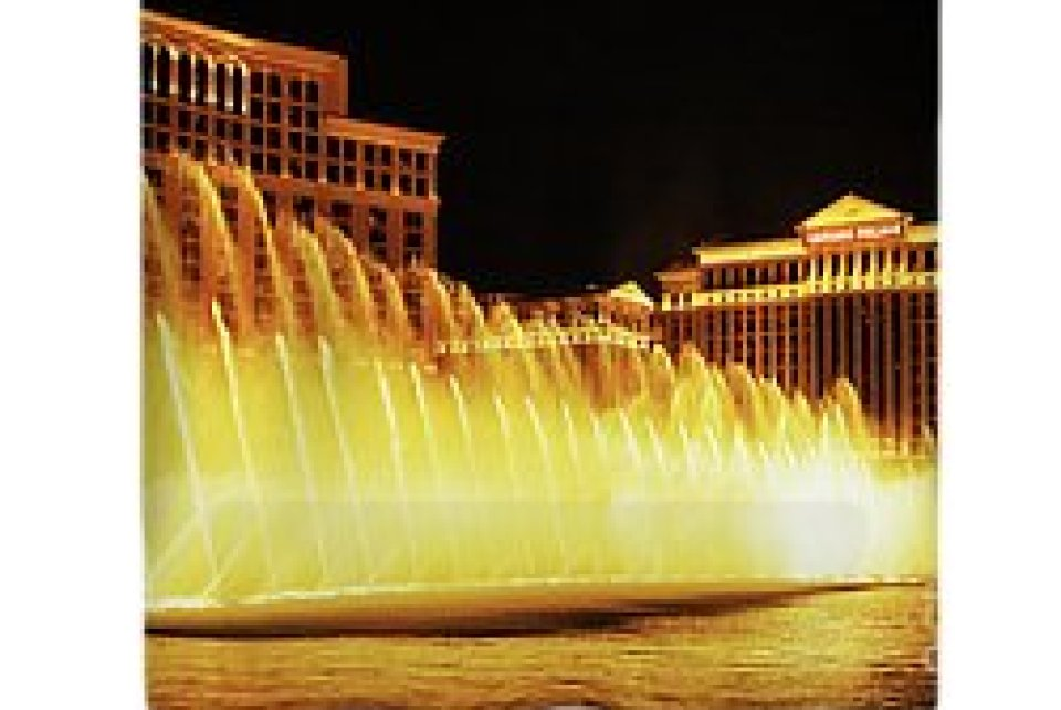 Bellagio Dancing Fountains Shower Curtain