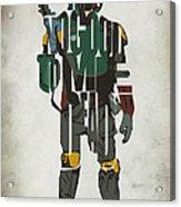 Star Wars Inspired Boba Fett Typography Artwork Painting ...