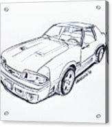 1987 Mustang Gt 5.0 Graphite Sketch IPhone 7 Case for Sale