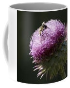 Bee On Thistle Coffee Mug
