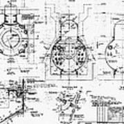 Nuclear Power Plant Components, Diagram Canvas Print