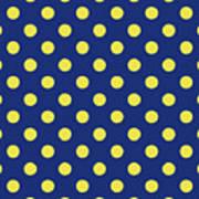 pic Blue Yellow Polka Dots blue and yellow polka dots art by