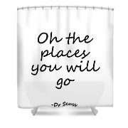 dr seuss quote black oh the places you will go by sweeping girl