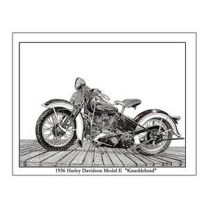 1976 Harley Davidson Fln Drawing by Jack Pumphrey