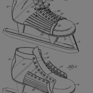 Vintage Ice Skates Patent Mixed Media by Dan Sproul