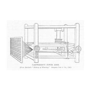 Cartwright's Power Loom Edmund Drawing by Mary Evans
