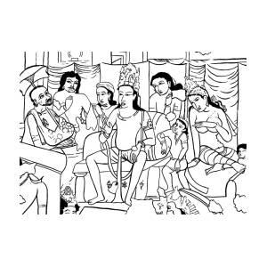Royal Assembly Painting by Priyanka Paul