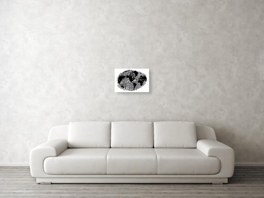 fingerprint 20x30 canvas print
