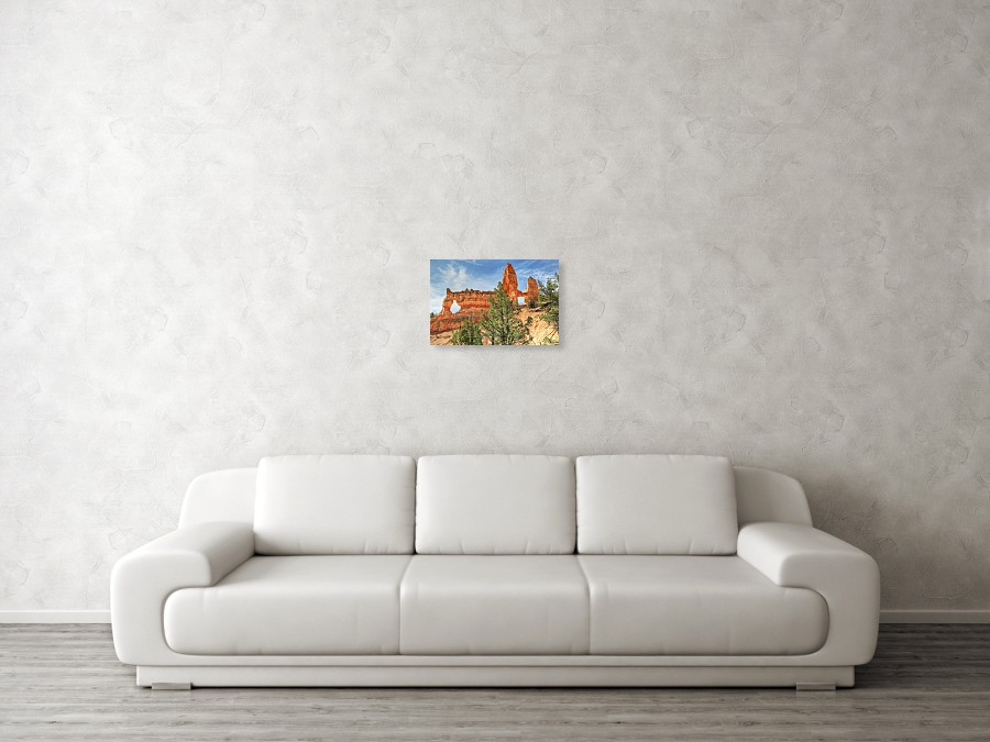 kennedy sofa bett couch settee tower bridge at bryce canyon poster by donna wall view 003