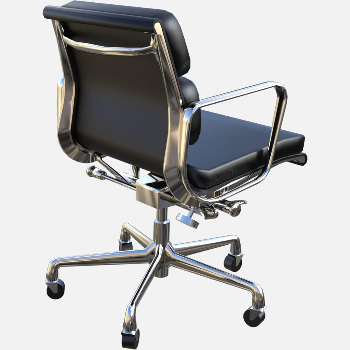 Eames Soft Pad Management Chair Eames Aluminum Group Soft Pad Management Chair Free 3d Model