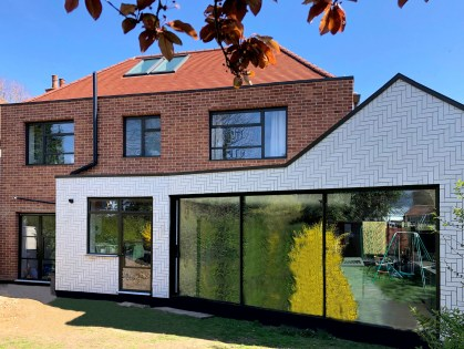 Brick Tile Cladding residential house rear extension