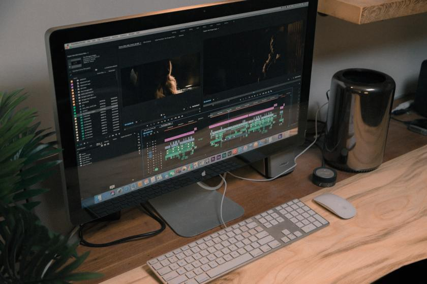 editing video animation on computer