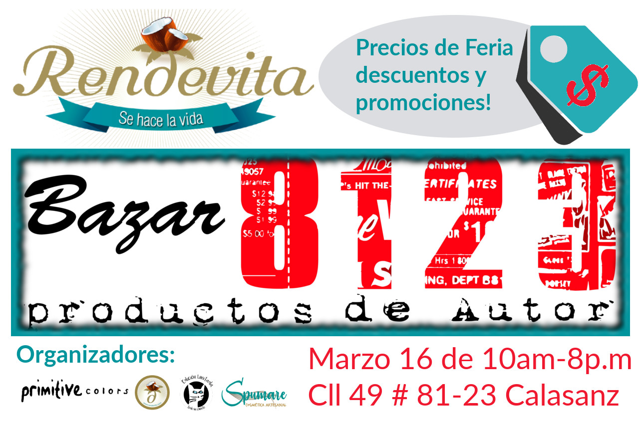 Invitación al Bazar8123, el 16 de marzo 2019