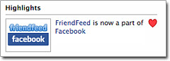Friendfeed & Facebook
