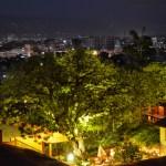 Summit Hotel Garden in the Nighttime