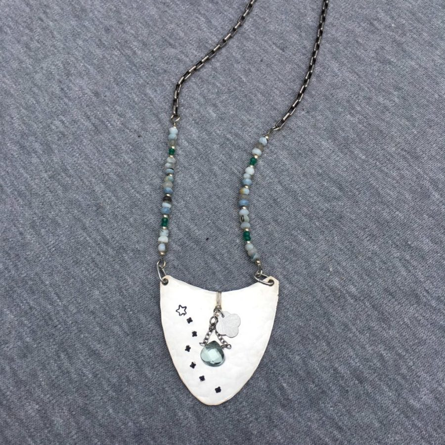 Shooting star vintage spoon necklace