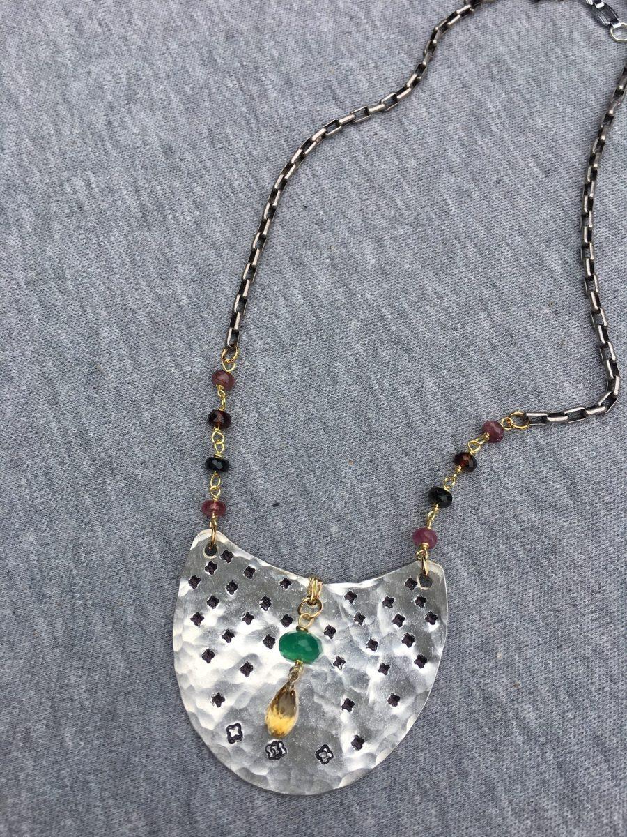 Stardot vintage spoon necklace