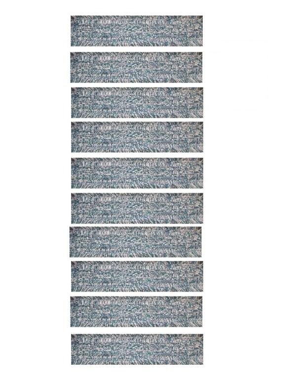 10 stk microfibermoppe m/løkker, 40 cm velcro