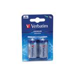 C - Alkaline Batterier, 2 stk pakning