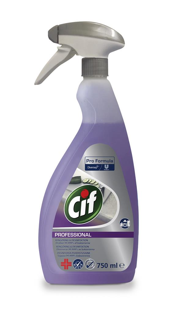 Cif Professional Rengøring & Desinfektion 750 ml