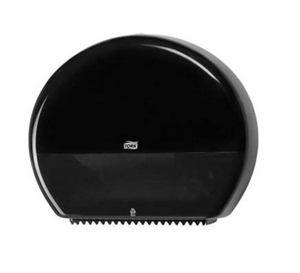 Dispenser til midi/maxi toiletruller (Sort)