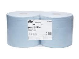 Aftørringsrulle Tork Plus Industri W1 /W2 2-lag 23.5 cm x 255 m Blå