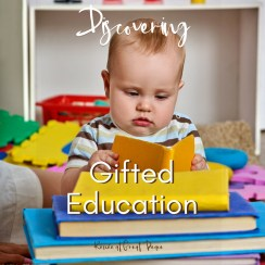 Discovering Gifted Education | Renée at Great Peace #homeschool #gifted #gtcat #ihsnet