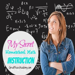 My Secret Homeschool Math Instruction for Gifted Child   Great Peace Academy