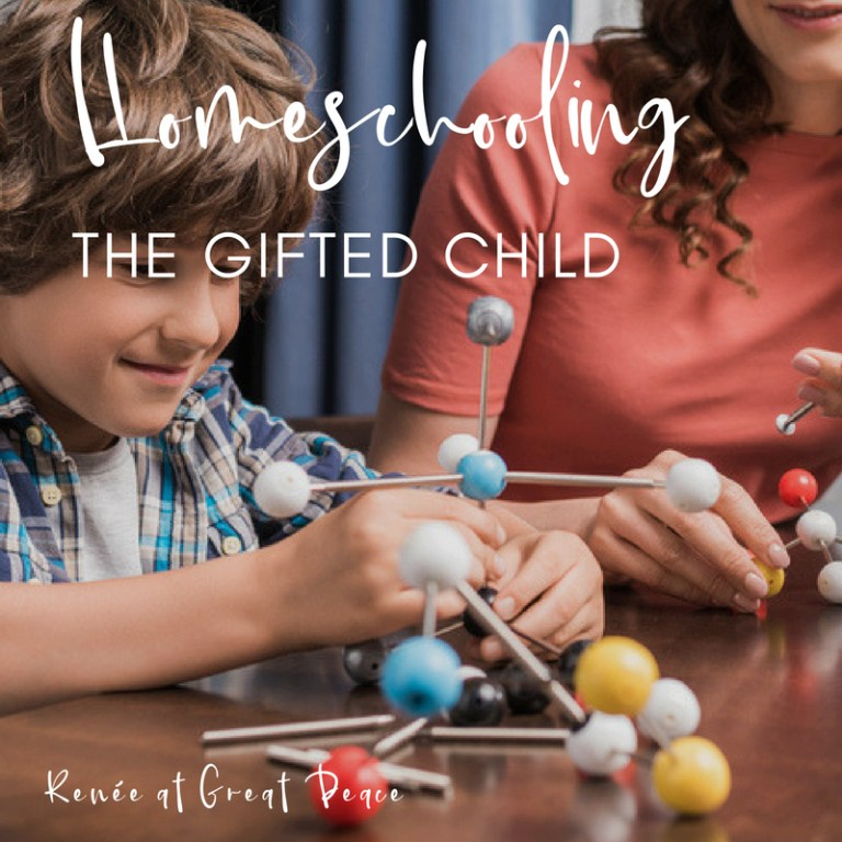 Homeschooling the Gifted Child   Renée at Great Peace #gifted #gtchat #ihsnet #homeschool