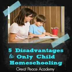 5 Disadvantages to Only Child Homeschooling Thumbnail
