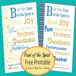Fruit of the Spirit Printable Pages | Great Peace Academy